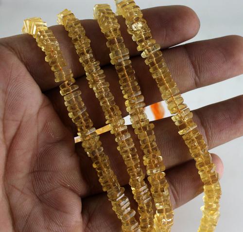 Citrine Chowki Beads