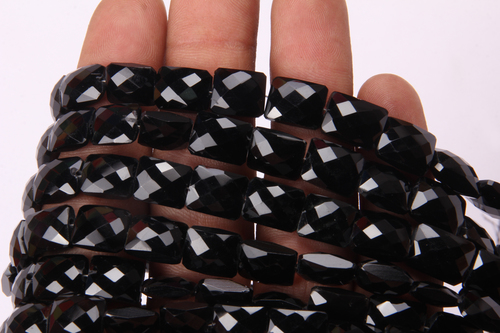 Black Onyx Chicklet Beads