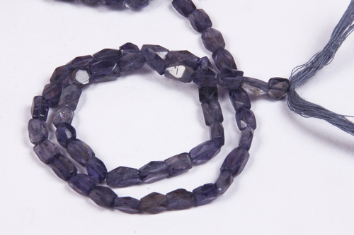 Iolite Cut Square Beads