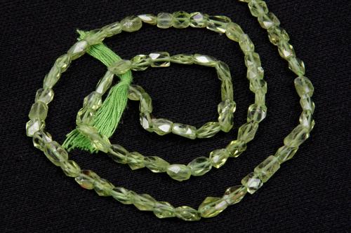 Peridot Cut Square Beads