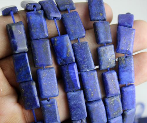 Lapis Lazuli Plain Square Beads