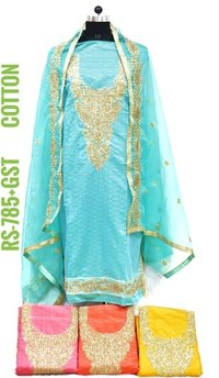 Ladies Cotton Fabric Suit