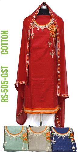 Ladies Cotton Fabric Suit