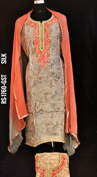 Designer Silk Fabric Suit