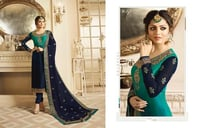Latest Embroidered Straight Suit
