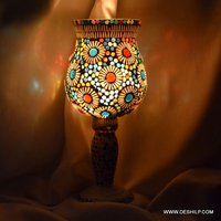 Pillar Glass Mosaic Table Lamp