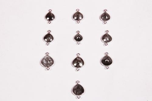 Rutile Quartz Silver Charms