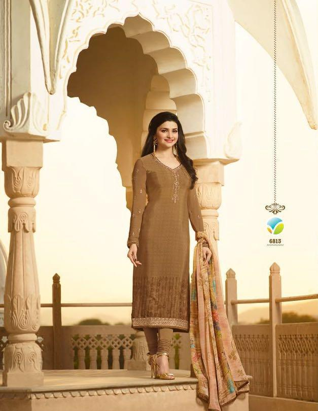 Embroidered Designer Straight Suits