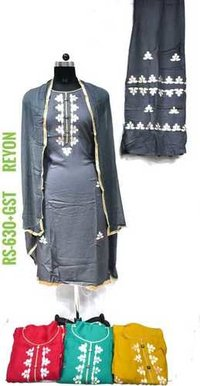 Reyon Fabric Sharara