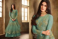 Designer and Heavy green Net Anarkali Suit