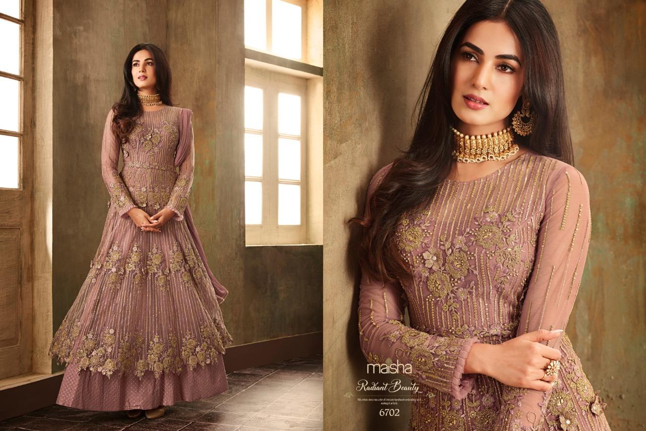 Designer and Heavy green Net Anarkali Suit