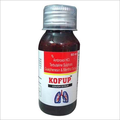 60ml Ambroxol HCL Terbutaline Sulphate Guaiphenesin Menthol Syrups