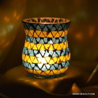 Hand Decor Mosaic Candle Holder