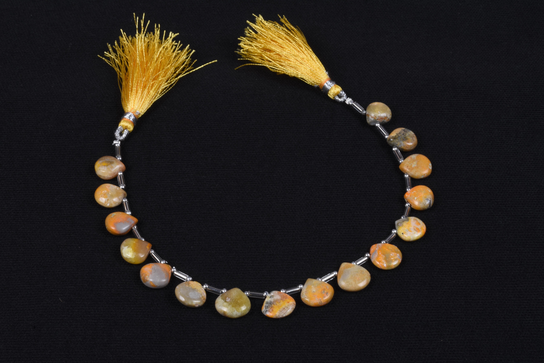 Bumble Bee Heart Beads