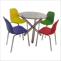 Cafe Round Dining Table Set