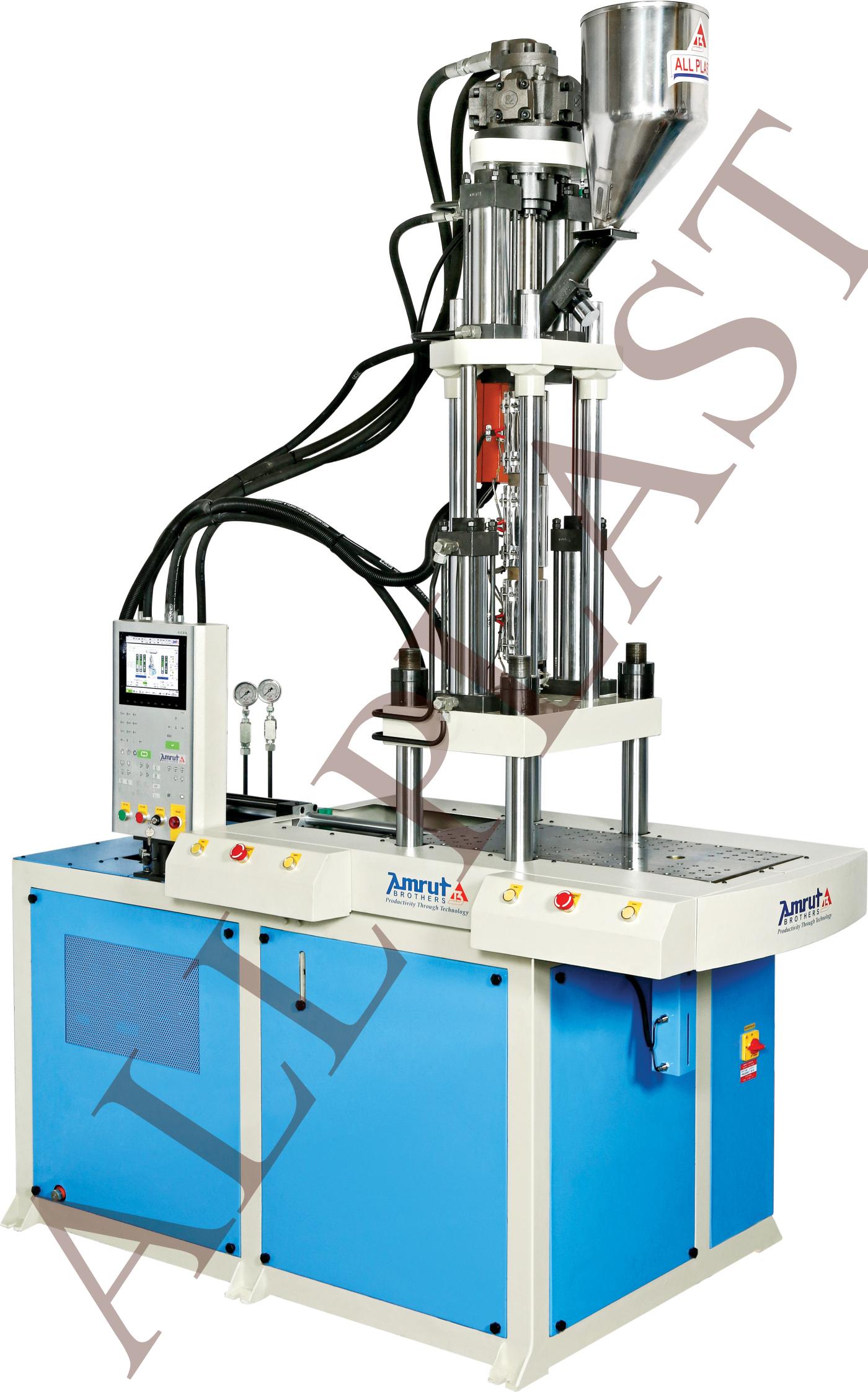 Single Slide Vertical Injection Moulding Machine