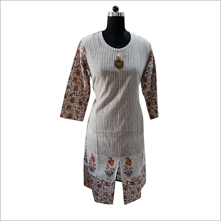 cotton hand print kurti