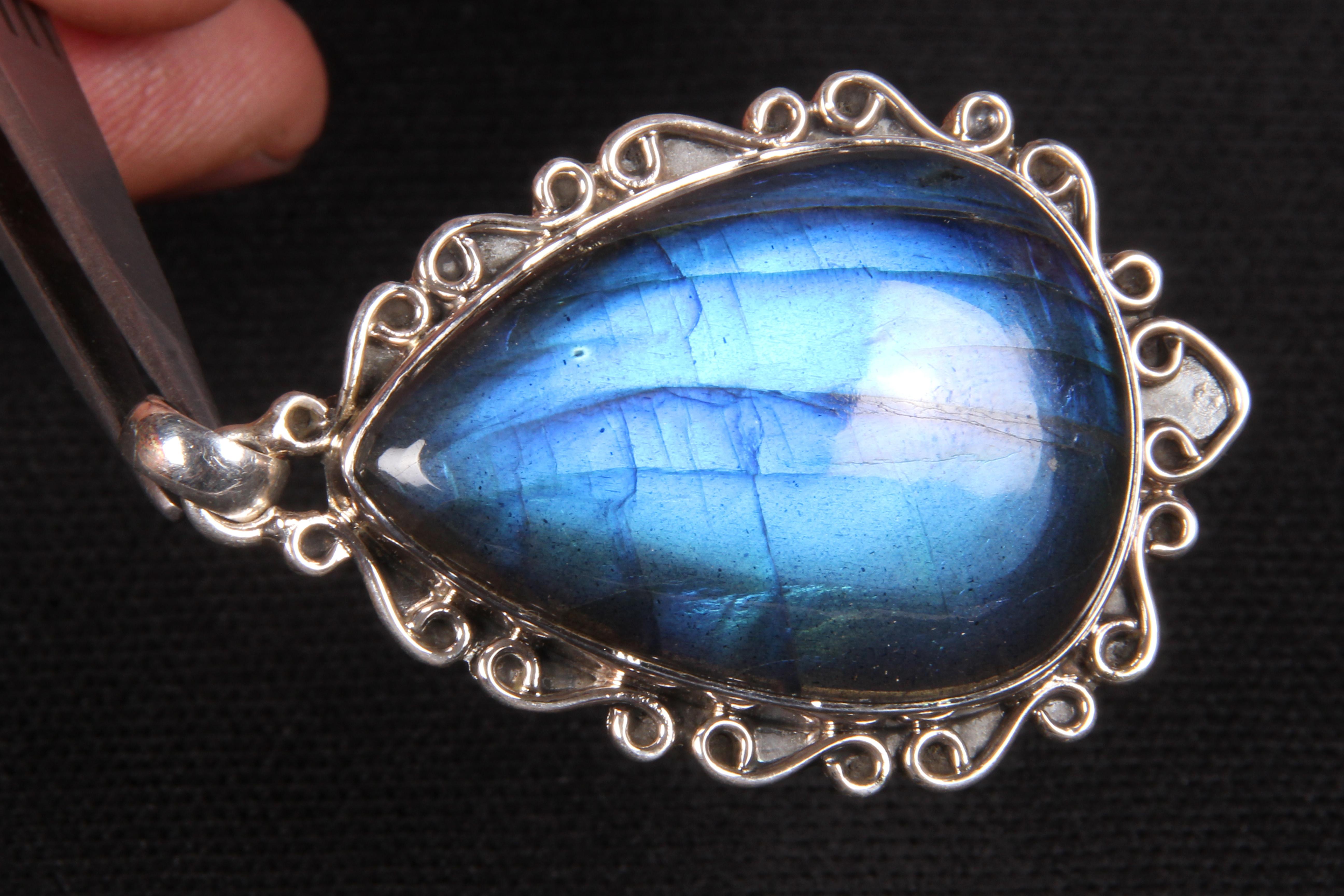 Labradorite Blue Fire Pendant