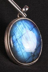 Blue Fire Labradorite Pendant