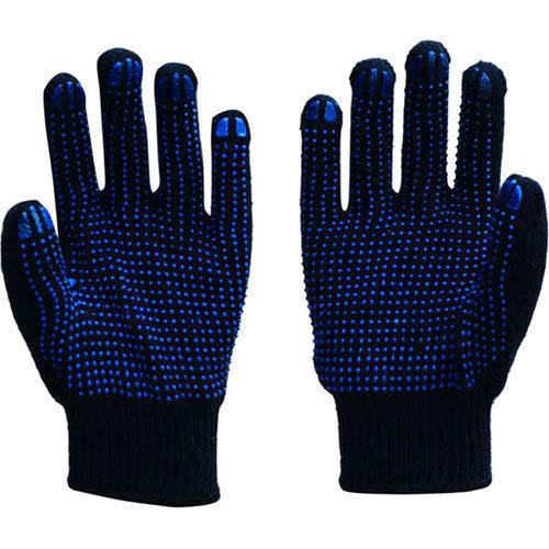 Cotton Gloves Dotted Blue on Blue