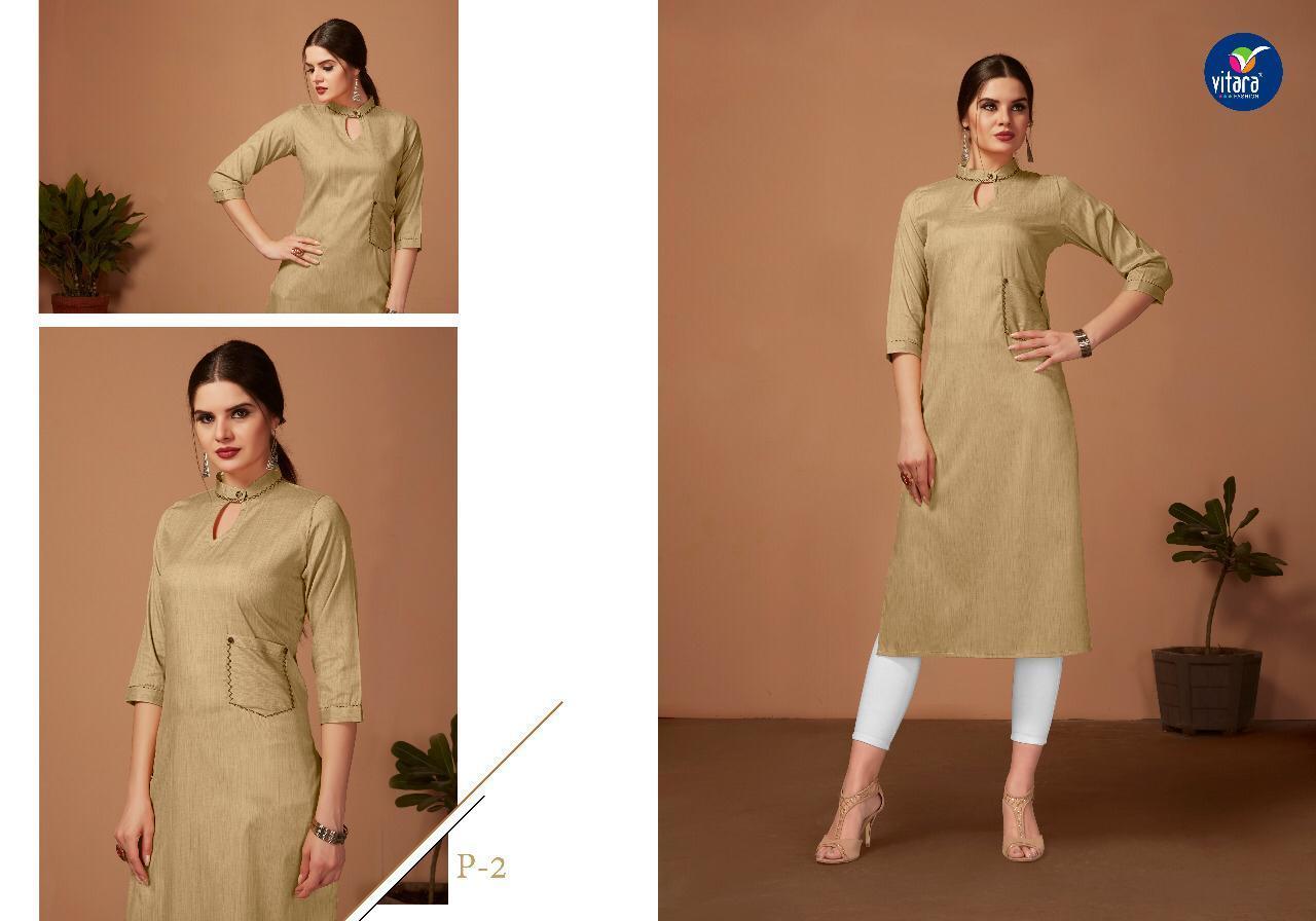 Designer Khadi Plain Kurti
