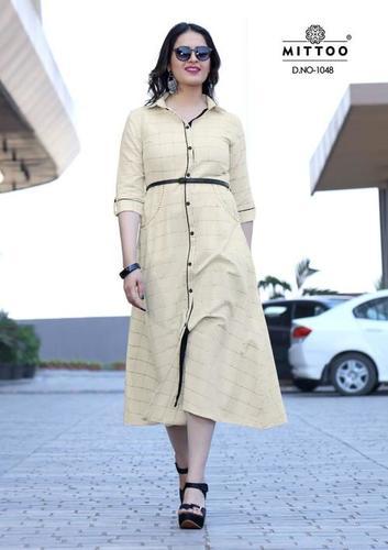 Designer Long rayon Printed Kurti