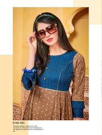 Designer Kurti with Lace work