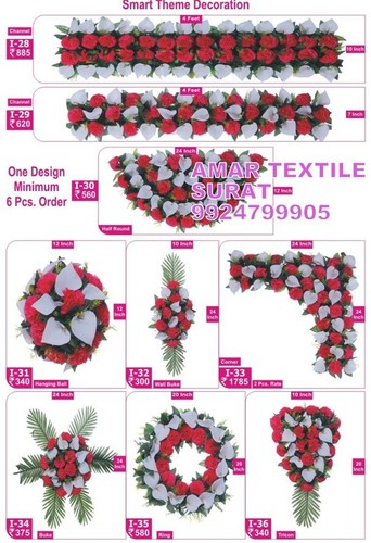Artificial flower garlands for indian weddings