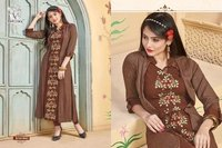 Designer Kurti with Shrug