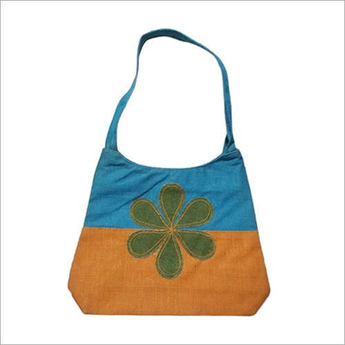 Embroidered Jute hand Bag