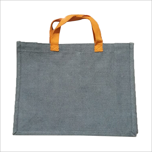 Two Tone Plain Jute Bag