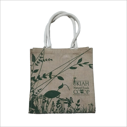 Fashionable Shopping Printed Jute Bag