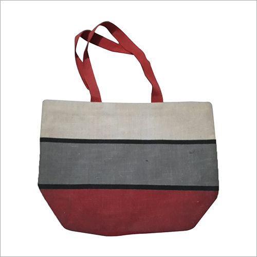 Shopping Designer Printed Jute Bag