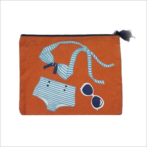 Beach Printed Jute Bag