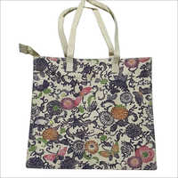 Ladies Stylish Beach Printed Jute Bag