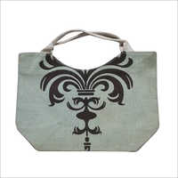 Two Tone Printed Jute Bag