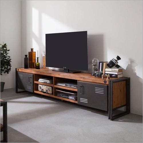 Industrial TV Wooden Cabinet