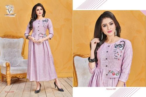 Designer Cotton Gown Style Kurti