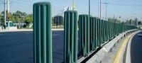 Anti glare median barrier