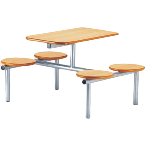 Wooden Top Canteen Dining Table