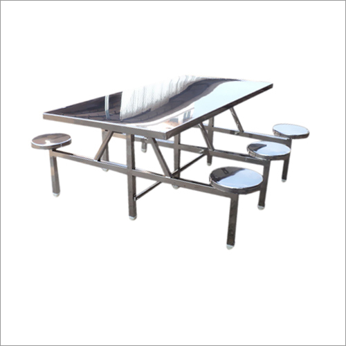 6 Seater SS Canteen Dining Table
