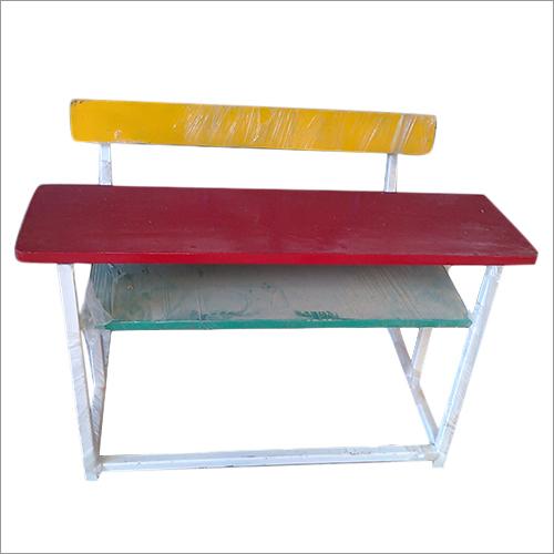 Wooden Top Portable School Bench