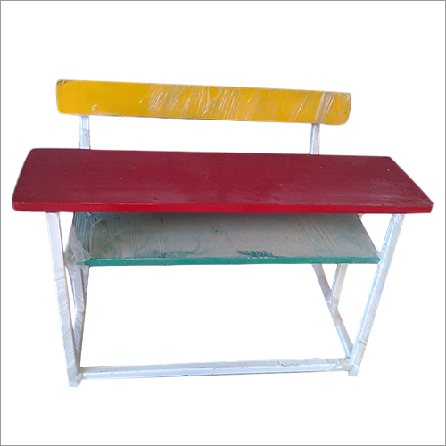 Wooden Top Portable School Bench