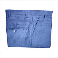 Blue Formal Mens Plain Trouser