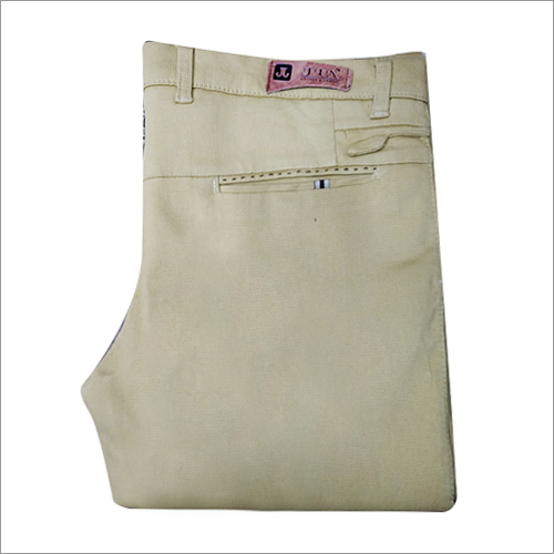 Mens Regular Fit Plain Trouser