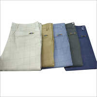 Mens Cotton Regular Fit Formal Trouser