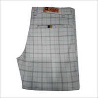 Mens Checked Casual Trouser