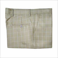 Mens Cotton Checked Trouser