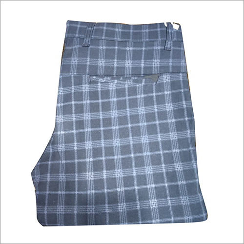 Mens Regular Fit Checked Trouser
