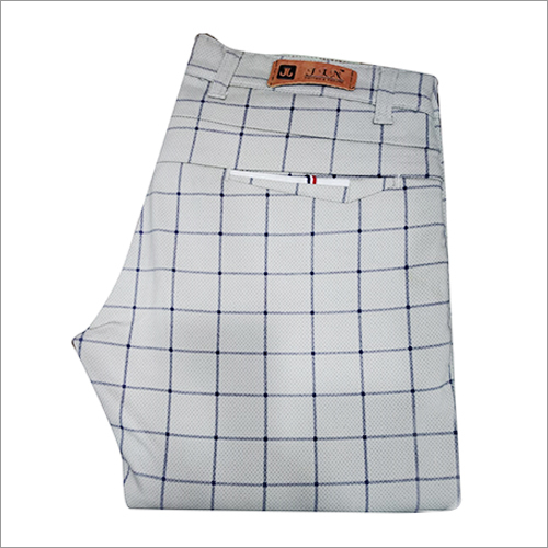 Mens Checked Formal Trouser